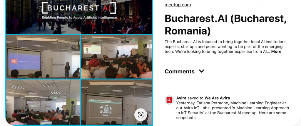Avira's ML Engineer at Bucharest AI meetup